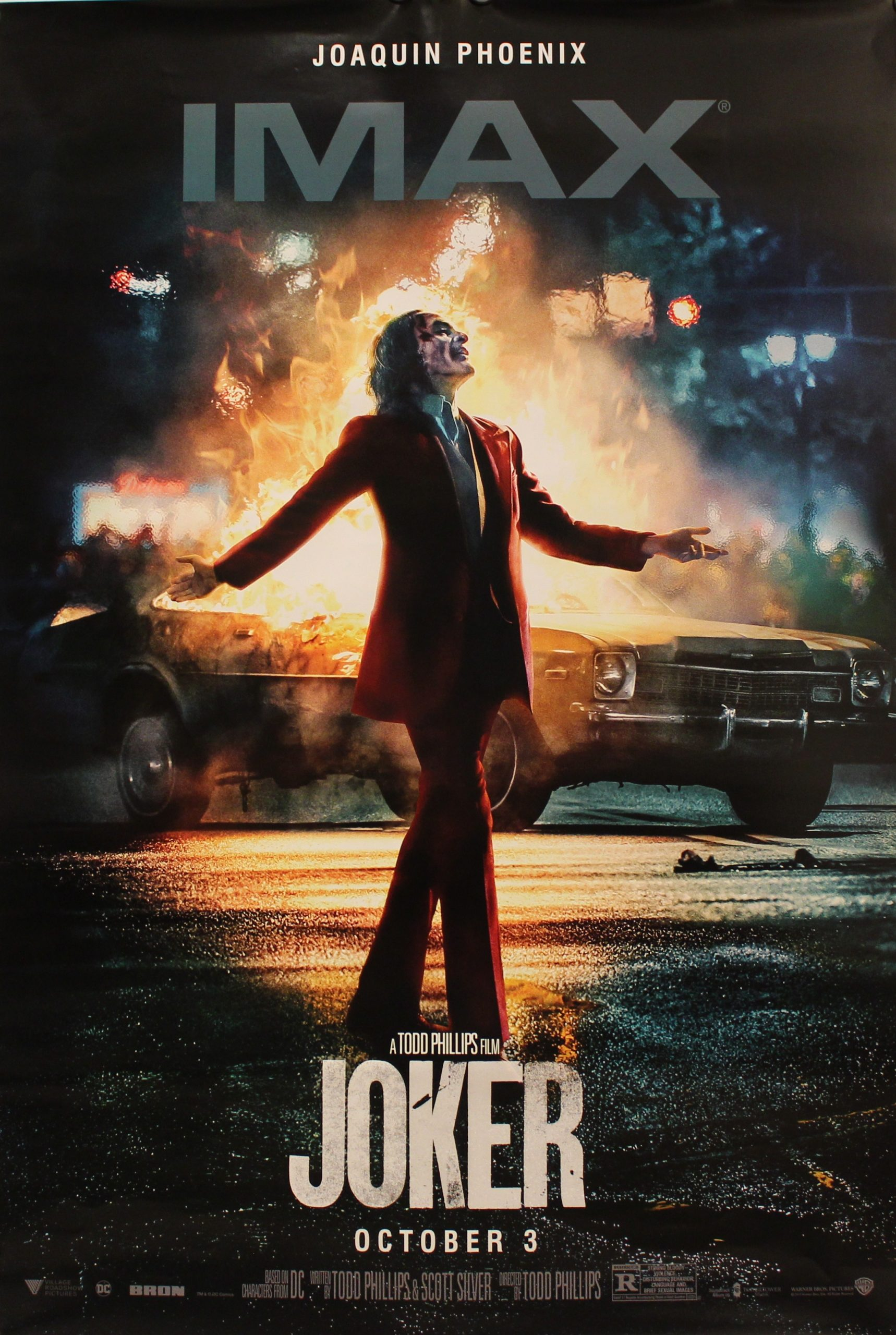 Joker Original Movie Poster Double Sided Advance Style Joaquin Phoenix